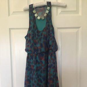 Dresses & Skirts - Colorful summer dress elastic waist size 10